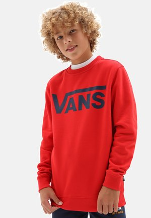 BY VANS CLASSIC CREW BOYS - Sweatshirt - high risk red/dress blues