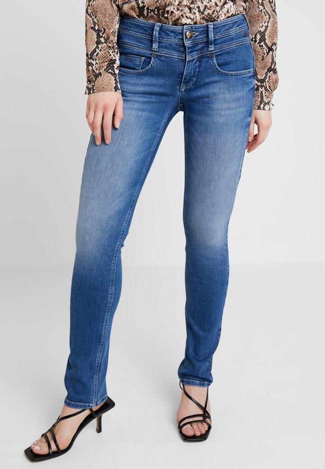 CATHYA - Skinny džíny - dark blue denim