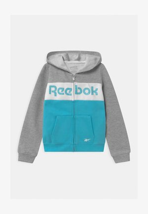 FULL ZIP COLOR BLOCK HOODIE - Zip-up hoodie - grey