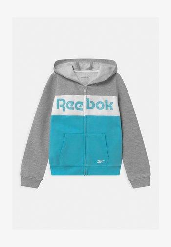FULL ZIP COLOR BLOCK HOODIE - Zip-up hoodie - grey