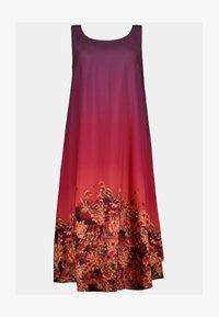 Ulla Popken - Jersey dress - rouge vin foncé - 1