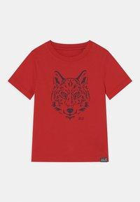 Jack Wolfskin - BRAND UNISEX - Print T-shirt - peak red - 0