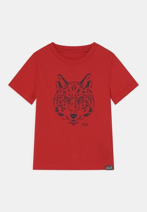 BRAND UNISEX - Print T-shirt - peak red