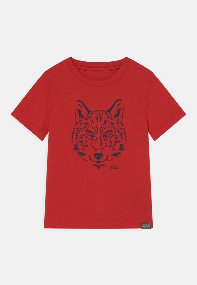 BRAND UNISEX - T-Shirt print - peak red