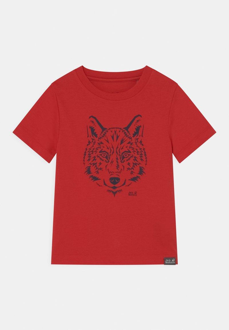 Jack Wolfskin - BRAND UNISEX - Print T-shirt - peak red