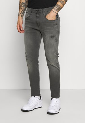 ANBASS HYPERFLEX BROKEN AND REPAIR - Slim fit jeans - medium grey