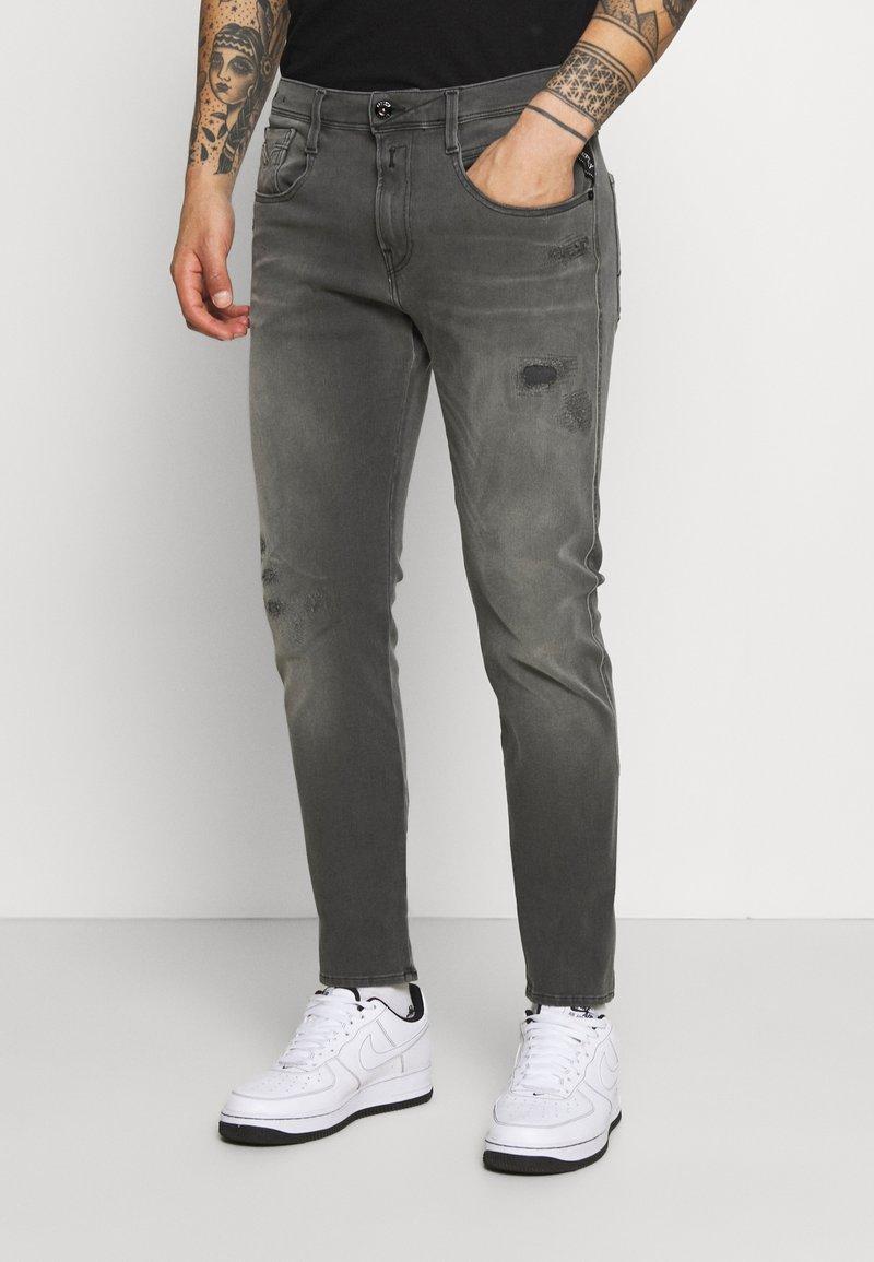 Replay - ANBASS HYPERFLEX BROKEN AND REPAIR - Jeans slim fit - medium grey