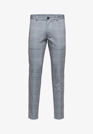 SLHSLIM-AIDEN - Spodnie materiałowe - grey
