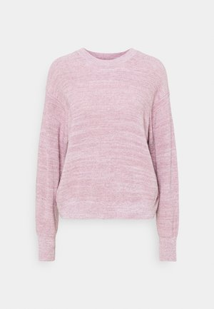 ANNA CREW NECK - Jumper - muave shadow melange