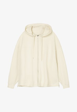 Zip-up hoodie - raw cream