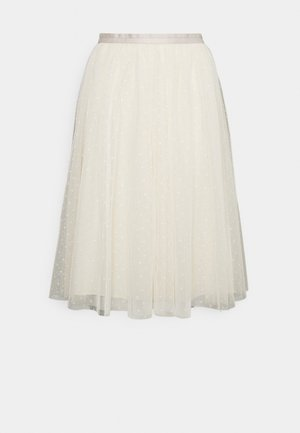 KISSES MIDI SKIRT EXCLUSIVE - A-line skirt - champagne