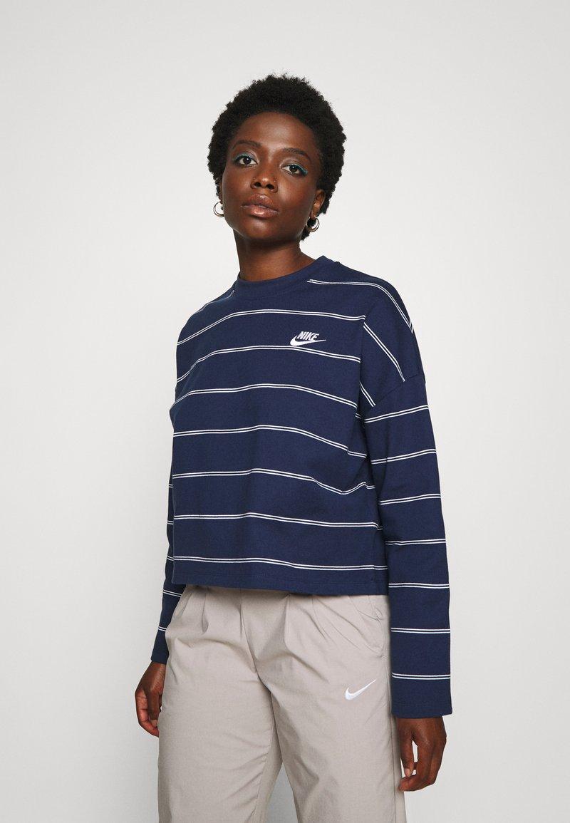 Nike Sportswear - STRIPE - Jumper - midnight navy/white