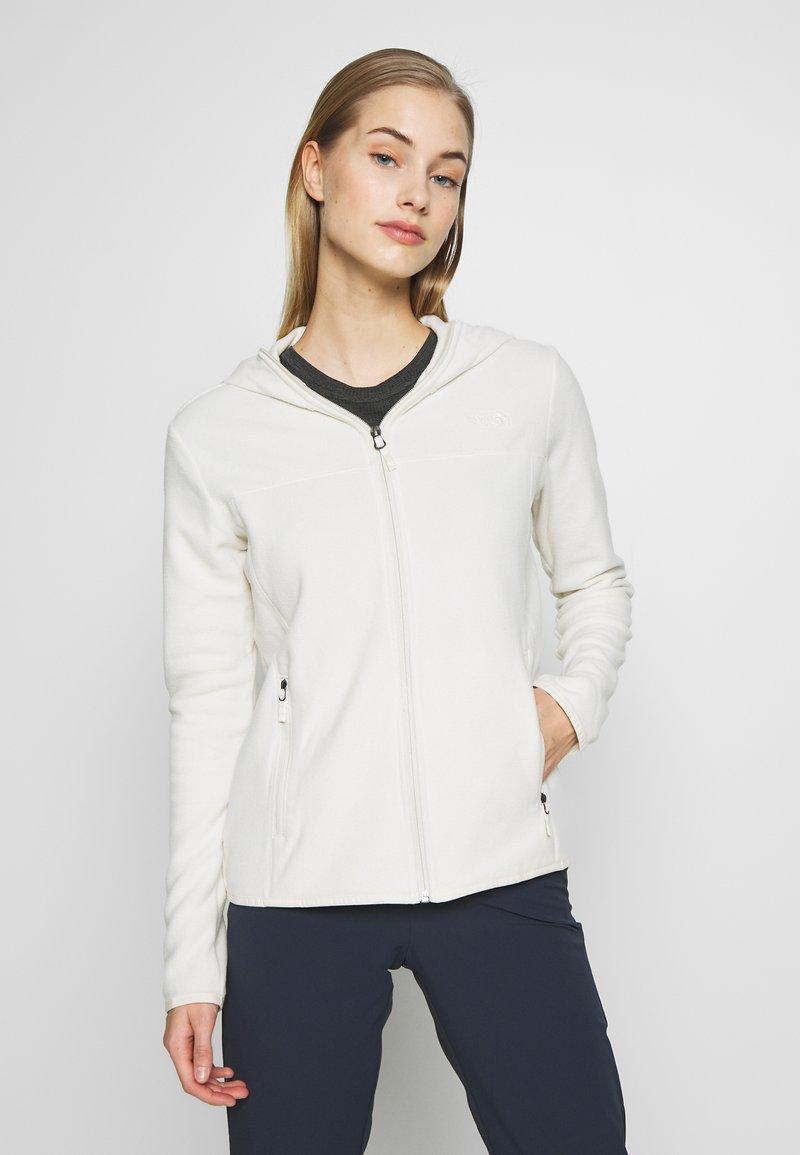 The North Face - WOMENS GLACIER FULL ZIP HOODIE - Fleece jacket - vintage white