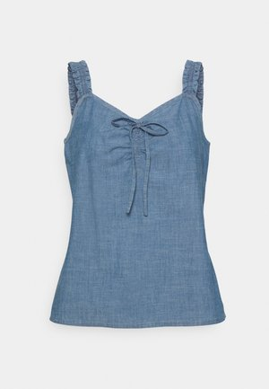 VMAKELA FLOUN SINGLET - Top - medium blue denim