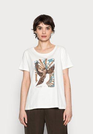 CAMILLA T-SHIRT - Print T-shirt - eggnog