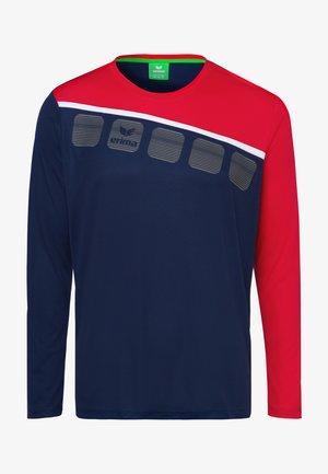 5-C TRAININGSSHIRT KINDER - Sports shirt - navy / red / white