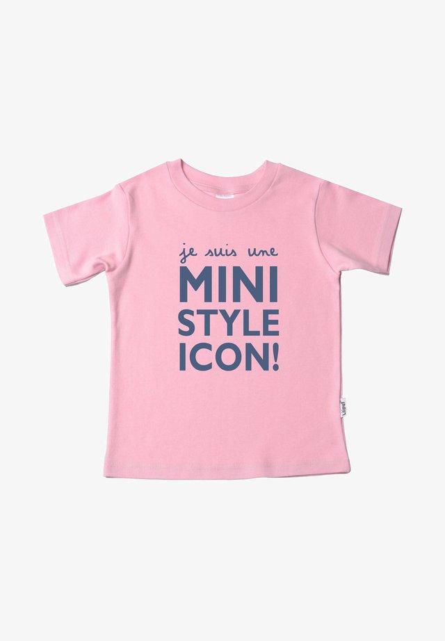 MIT MODISCHEM - Print T-shirt - rosa