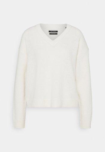 LONGSLEEVE V NECK CROPP - Jersey de punto - natural white