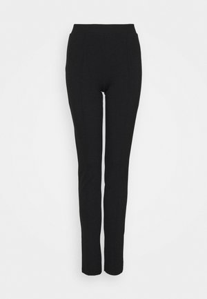 SLFCARO SLIM INTERLOCK PANT - Leggings - Trousers - black