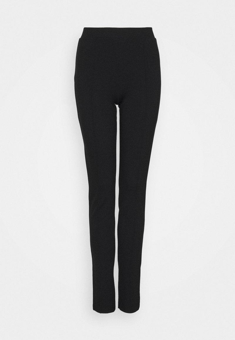 Selected Femme Petite - SLFCARO SLIM INTERLOCK PANT - Leggingsit - black