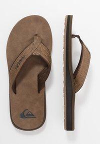 Quiksilver - CARVER - T-bar sandals - tan - 1