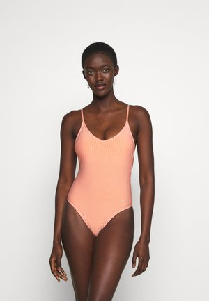 ONLKITTY SWIMSUIT - Plavky - red clay/cloud dancer