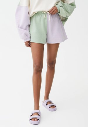 Shorts - green/mauve