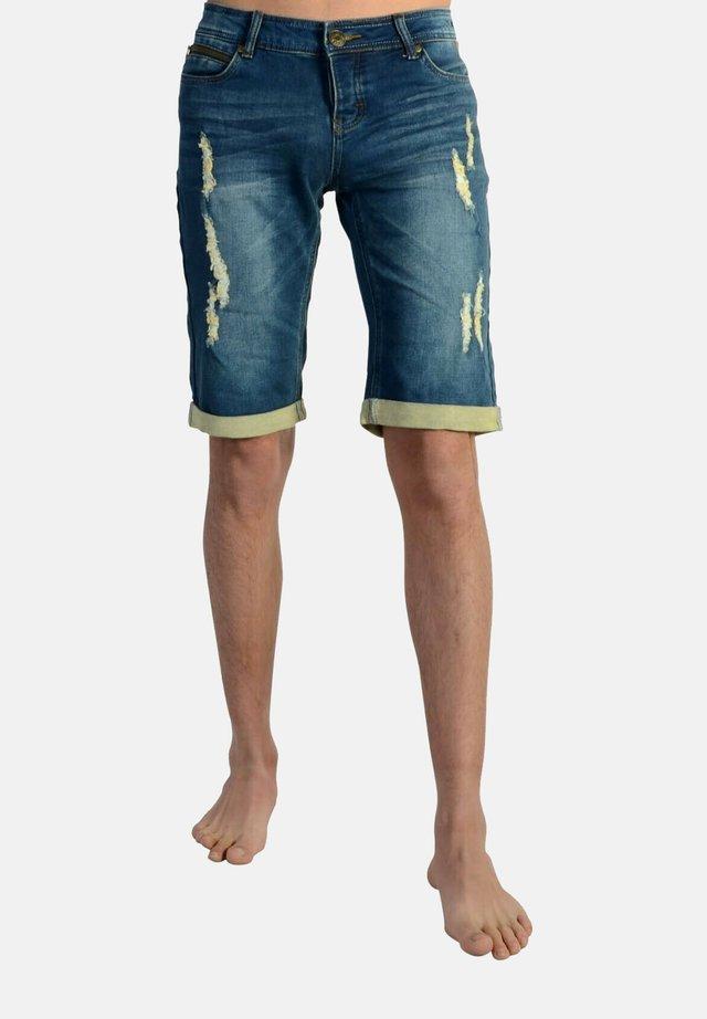 Short en jean - bleu