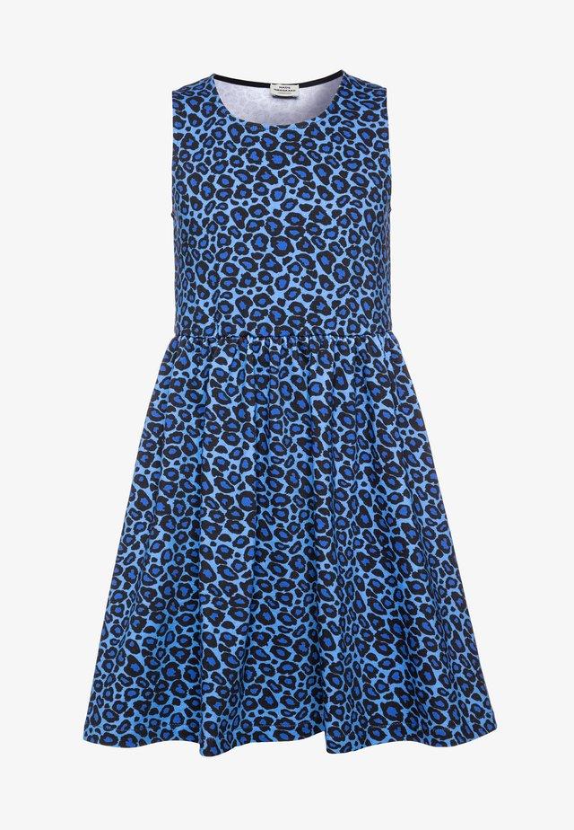PRINTED ORGANIC OLIVIA - Vapaa-ajan mekko - blue