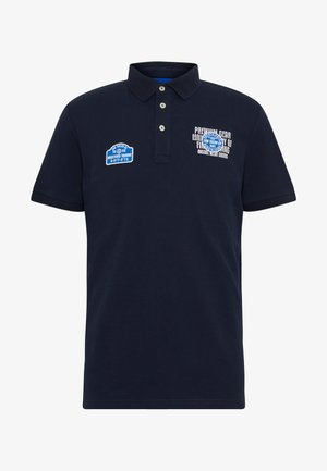 WITH BADGES - Polo shirt - sky captain blue
