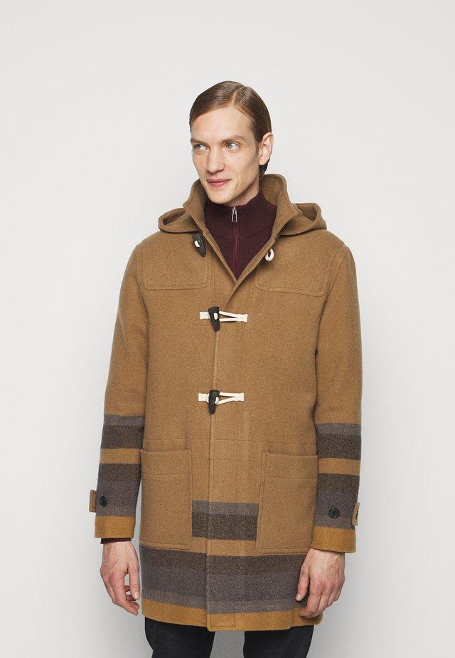MENS DUFFLE COAT - Classic coat - camel/blue