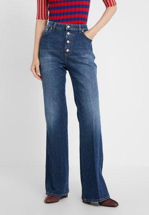 Široké džíny - stone blue