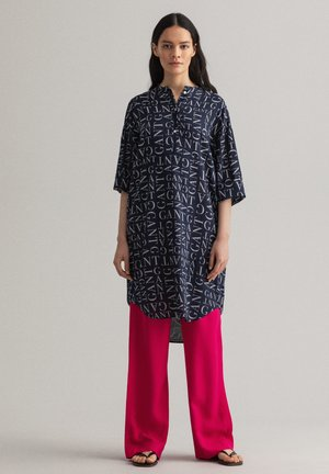 TYPOGRAPHY TUNIC - Blouse - evening blue