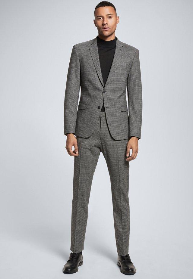 Kostuum - medium grau gemustert