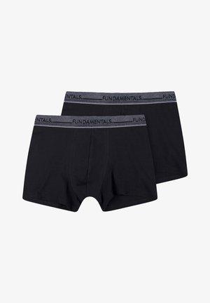 WE FASHION HEREN BOXERSHORTS, 2-PACK - Panties - black