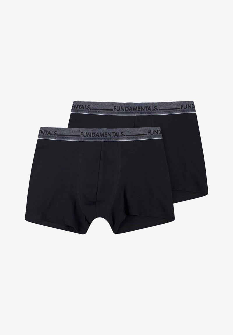 WE Fashion - WE FASHION HEREN BOXERSHORTS, 2-PACK - Panties - black