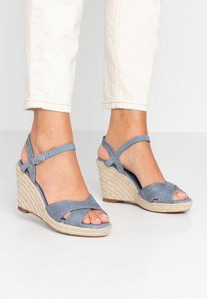 Sandály na vysokém podpatku - jeans