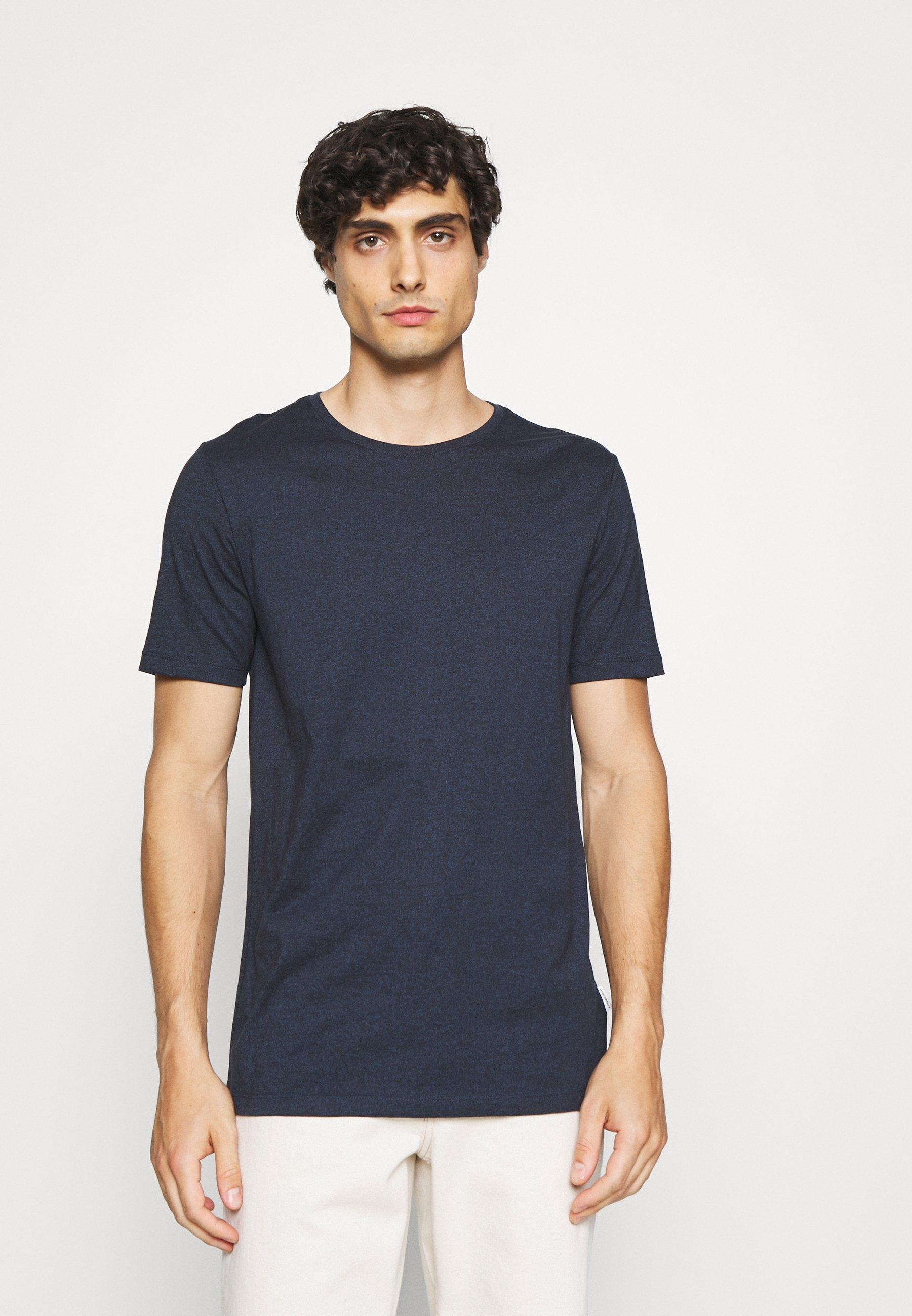 Homme MOULINÉ O NECK TEE - T-shirt basique