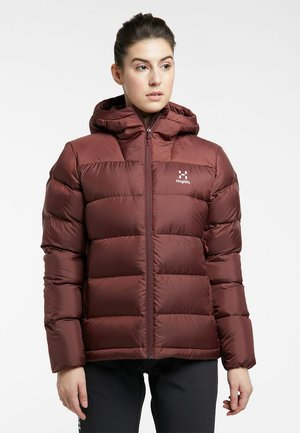 BIELD DOWN HOOD - Down jacket - maroon red