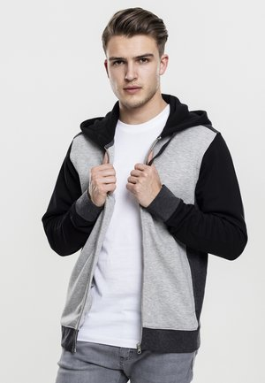 Zip-up hoodie - grey/charcoal/black