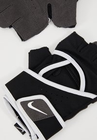 Nike Performance - GYM PREMIUM FITNESS GLOVES - Fingerless gloves - black/white - 6