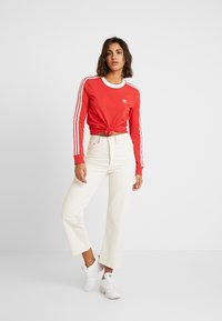 adidas Originals - Langærmede T-shirts - lush red/white - 1