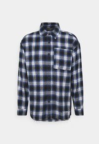 SIGNATURE CIRCLE COUTURE BRUSHED CHECK - Shirt - blue