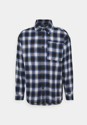 SIGNATURE CIRCLE COUTURE BRUSHED CHECK - Skjorte - blue