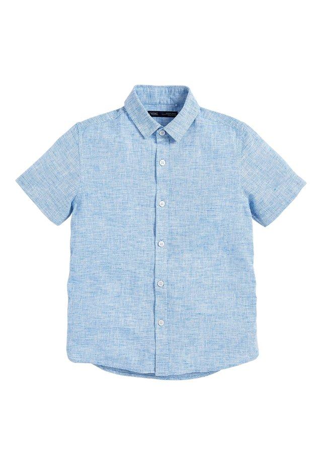 BLUE SHORT SLEEVE LINEN MIX SHIRT (3-16YRS) - Camicia - blue