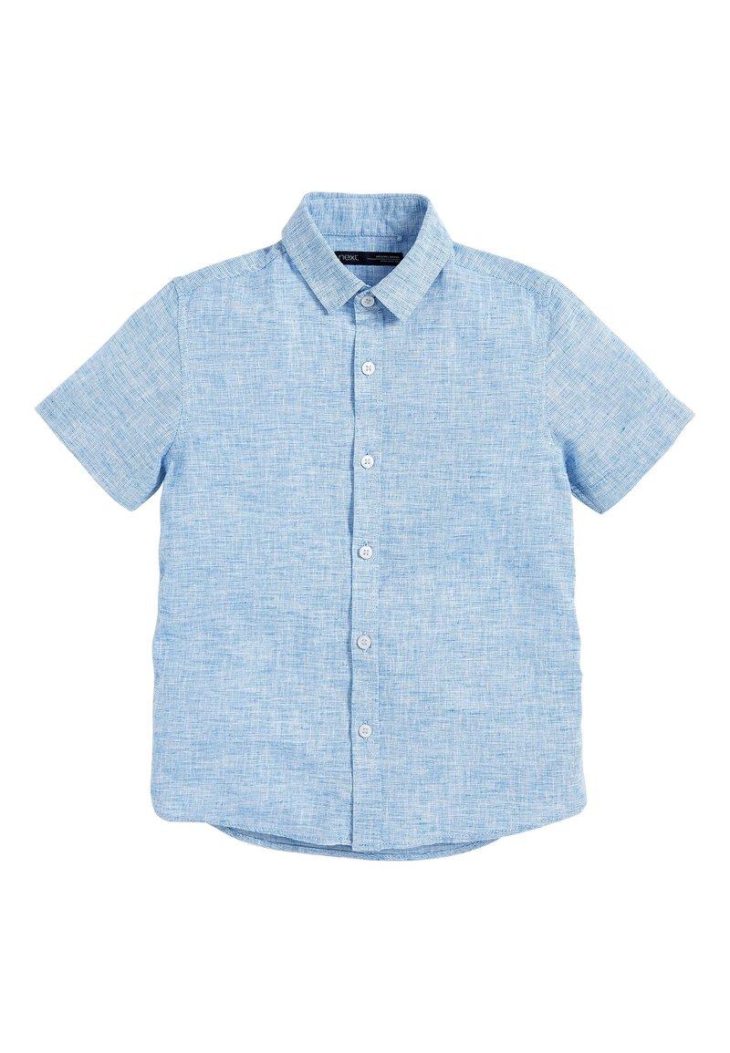 Next - BLUE SHORT SLEEVE LINEN MIX SHIRT (3-16YRS) - Košile - blue