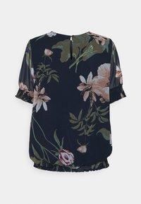 Vero Moda - VMKATNISS SMOCK - Print T-shirt - navy blazer/katniss - 1