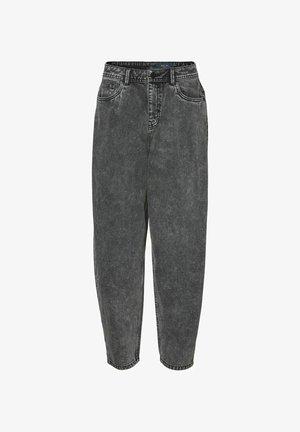 HIGH-WAIST - Jeans baggy - black denim