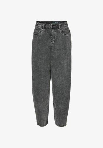 HIGH-WAIST - Relaxed fit jeans - black denim