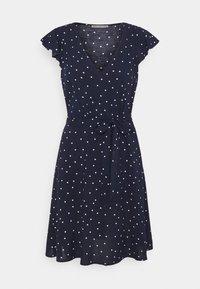 Anna Field Petite - VOLANT BELT DRESS - Sukienka letnia - dark blue/white - 0